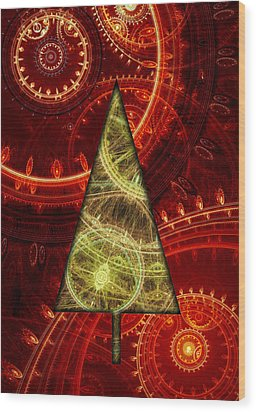 Steam Punk Christmas 1 Wood Print