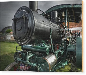 Steam Tractor 001 Wood Print by Lance Vaughn