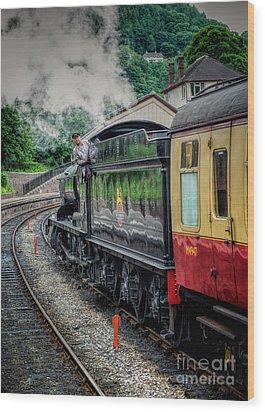 Steam Train 3802 Wood Print by Adrian Evans