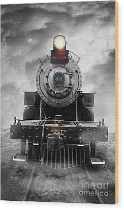 Steam Train Dream Wood Print
