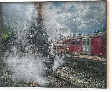 Wood Print featuring the photograph Steam Train by Hanny Heim