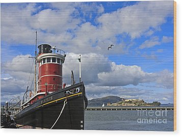 Wood Print featuring the photograph Steam Tug Hercules by Kate Brown