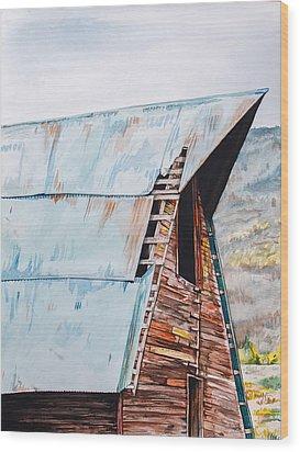 Steamboat Barn Wood Print by Aaron Spong