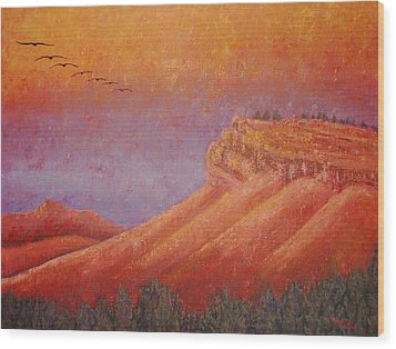 Steamboat Mountain At Sunrise Wood Print