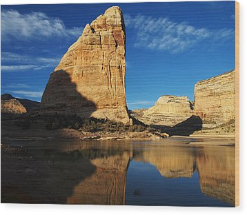 Steamboat Rock In Dinosaur National Monument Wood Print by Nadja Rider