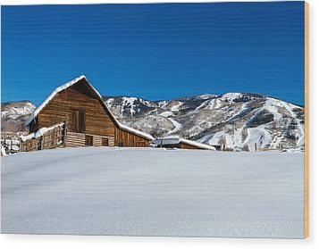 Steamboat Springs Barn Wood Print by Teri Virbickis