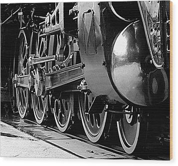 Steamer Up 844 Wheels Wood Print by Bartz Johnson