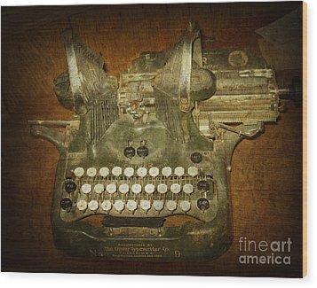 Steampunk Antique Typewriter Oliver Company Wood Print by Svetlana Novikova