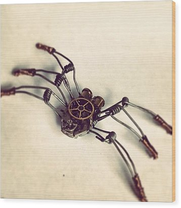 #steampunk #bugs More To Come Wood Print by Dana Forte