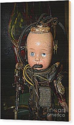 Steampunk - Cyborg Wood Print by Paul Ward
