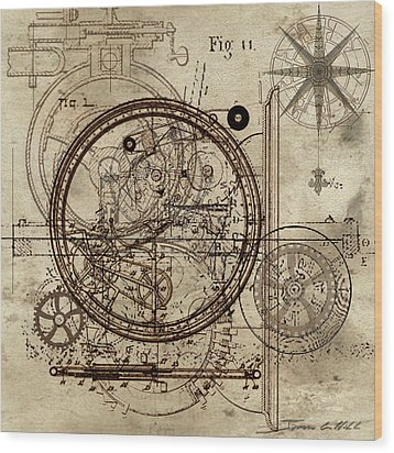 Steampunk Dream Series IIi Wood Print by James Christopher Hill