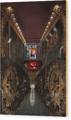 Steampunk - Dystopian Society Wood Print by Mike Savad