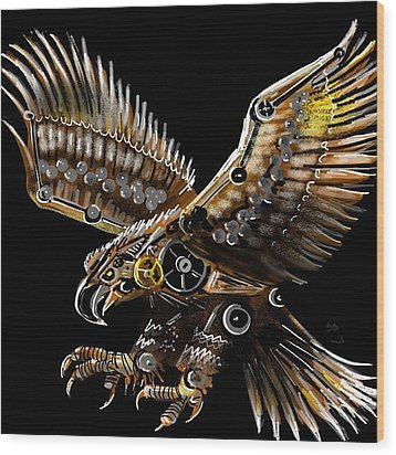 #steampunk #eagle #eagleds2 #bird Wood Print by David Burles