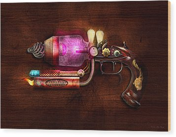 Steampunk - Gun -the Neuralizer Wood Print by Mike Savad