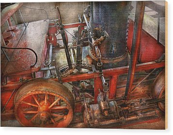 Steampunk - My Transportation Device Wood Print by Mike Savad