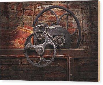 Steampunk - No 10 Wood Print by Mike Savad