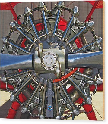 Stearman Engine Wood Print by Dale Jackson