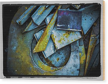 Wood Print featuring the photograph Steel Abstract Six by Craig Perry-Ollila