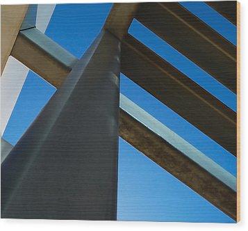 Steel Blue - Industrial Abstract Wood Print by Steven Milner