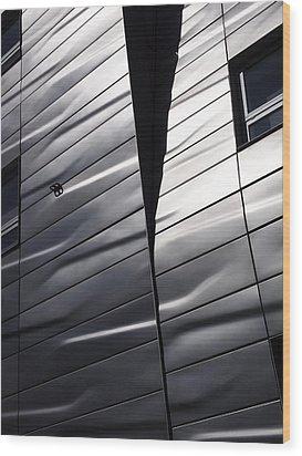 Steel Currents Wood Print by Rona Black
