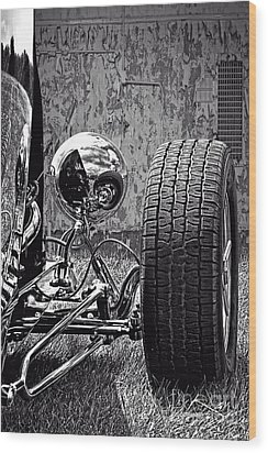 Steel On Wheels Wood Print by Adam Olsen