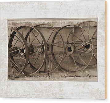 Steel Wheels Wood Print