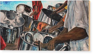 Steelband Music Sweet Wood Print