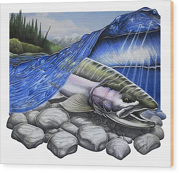 Steelhead Dreams Wood Print by Nick Laferriere