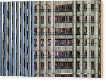 Steelness Of Geometry Wood Print by Joanna Madloch