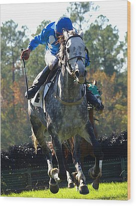 Wood Print featuring the photograph Steeplechase by Robert L Jackson