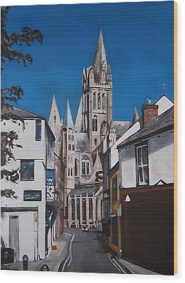 Wood Print featuring the painting Steeples by Cherise Foster