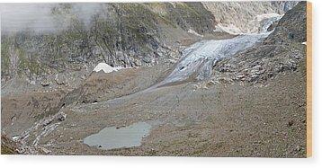 Stein Glacier, Switzerland Wood Print by Science Photo Library