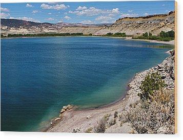 Wood Print featuring the photograph Steinacker Reservoir Utah by Janice Rae Pariza