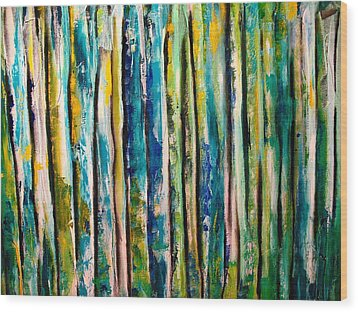 Stems Wood Print by Frank B Shaner