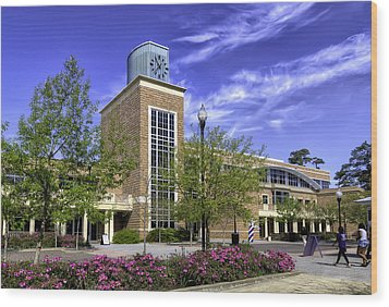 Stephen F. Austin State University Wood Print by Tim Stanley