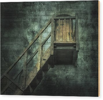 Stepping Into Mystery Wood Print by Svetlana Sewell