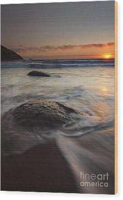 Stepping Stones Wood Print by Mike  Dawson
