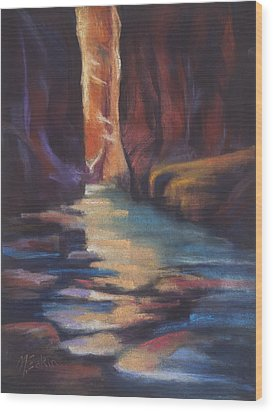 Stepping Stones Zion Canyon Wood Print