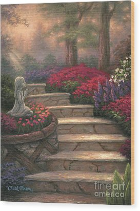 Steps Of Providence Wood Print by Chuck Pinson