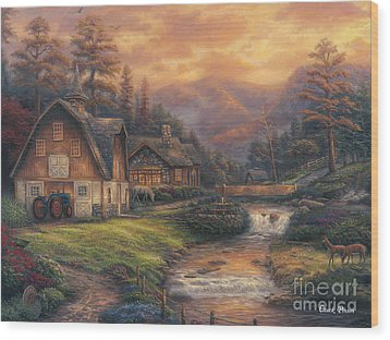 Steps Off The Appalachian Trail Wood Print by Chuck Pinson