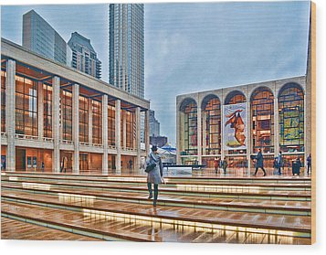 Steps To Fame Lincoln Center Wood Print