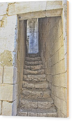 Steps To Matera Wood Print