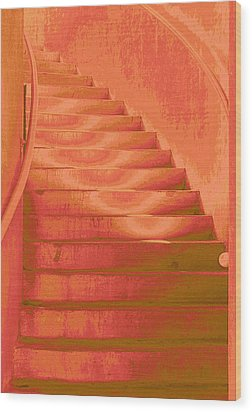 Steps Wood Print by Wendy J St Christopher