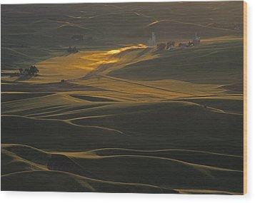 Steptoe Butte Sunset Wood Print