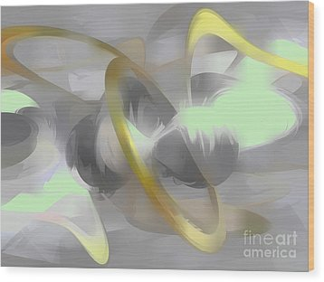 Sterling Desire Abstract Wood Print by Alexander Butler