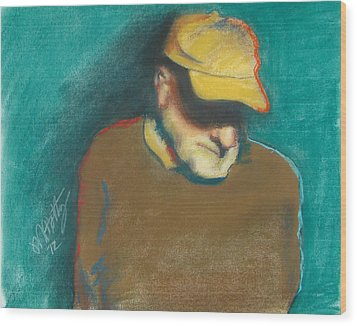Steve In Thought Wood Print