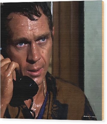 Steve Mcqueen As Bullitt Wood Print