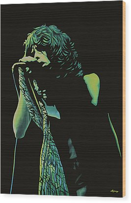 Steven Tyler 2 Wood Print by Paul Meijering