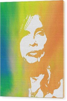 Steven Tyler Canvas Wood Print by Dan Sproul