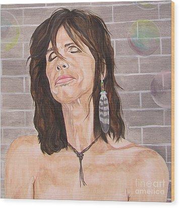 Steven Tyler Dreams On Wood Print